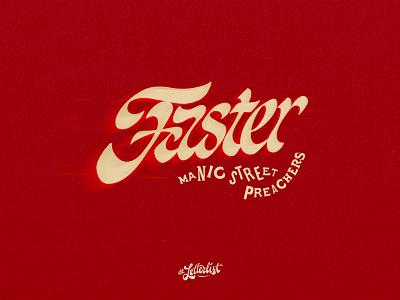Faster british uk handlettering music letters typeface typography type dribbble custom lettering handmade