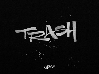 Trash 36daysoftype typeface texture music ruling pen letter type typography lettering custom handmade