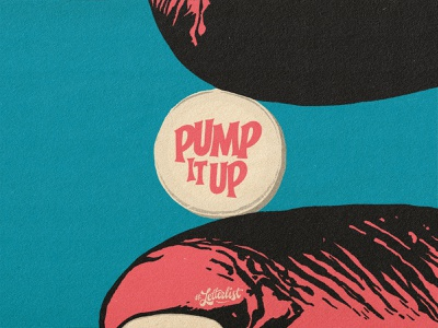 Pump It Up letters typeface british letter music type dribbble custom typography lettering handmade