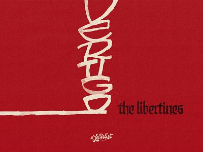 Vertigo vertical vertigo calligraphy ruling pen letters type music dribbble custom typography lettering handmade