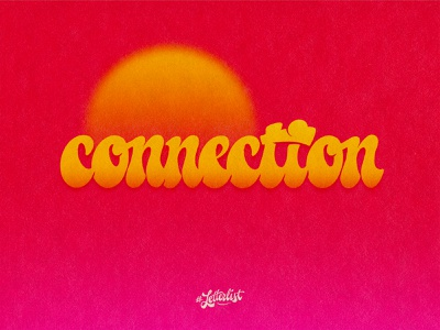 Connection letters concept elastica connection typeface music type dribbble custom typography lettering handmade