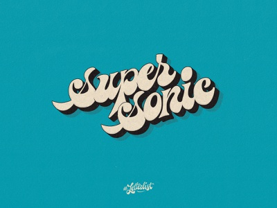 Supersonic handlettering pop british oasis letters typeface music type dribbble custom typography lettering handmade