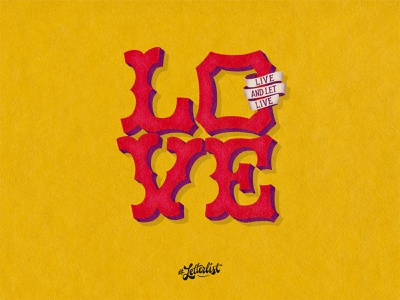 Live And Let Live live handlettering lovecraft calfornia love letters typeface music type logo custom typography lettering handmade
