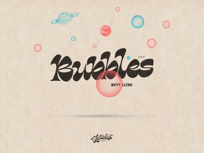 Bubbles handlettering bubbles music letters typeface dribbble custom typography lettering handmade
