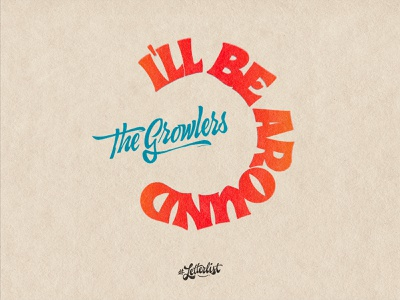 I´ll Be Around typeface music letters type dribbble custom typography lettering handmade