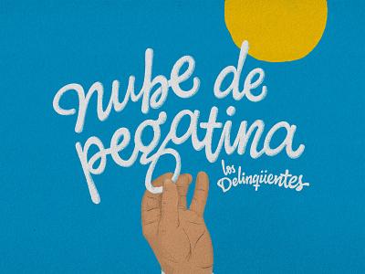 Nube de Pegatina typeface letter illustration dribbble custom typography lettering handmade