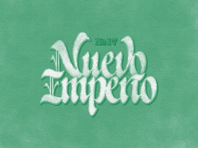 Nuevo Imperio typeface handlettering letters type custom typography lettering handmade