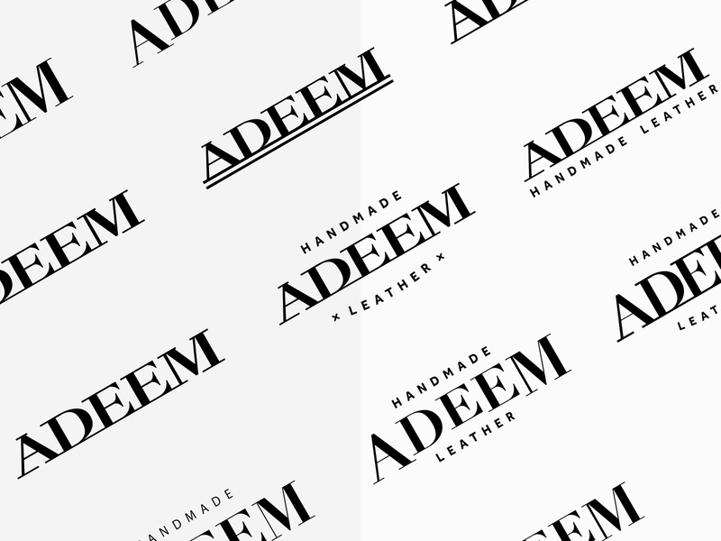 Adeem Handmade Leather women handbag fashion hand bag logo design process a letter logo typography bag accessories monogram branding leather handmade adeem logo logodesign