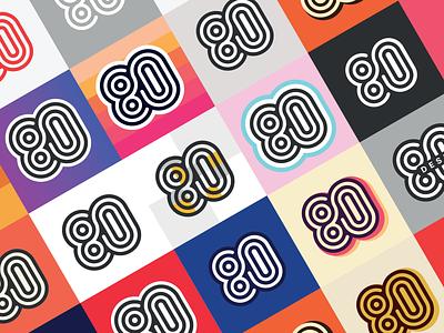 Exploring Retro Color Options for 80 retro colors retro logo retro design symbol vintage retro logo gradient eighty design color palette color options colorful color branding 80s style 80s 80