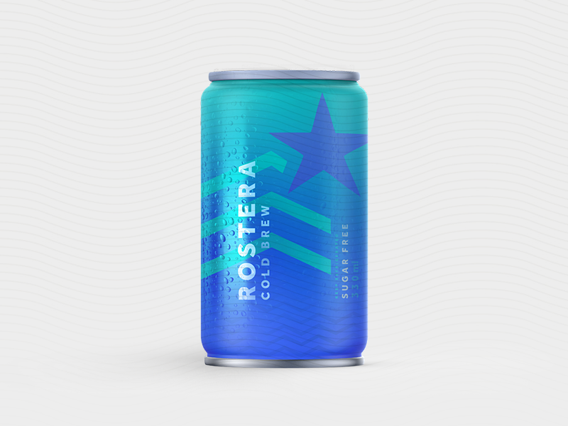 Rostera Cold Brew Coffee Can pt.6 nitro cold brew cold coffee cold brew gradient brewing label coldbrew bottle packaging can coffee