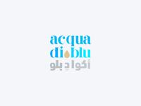 acqua di blu water logo design pt.1