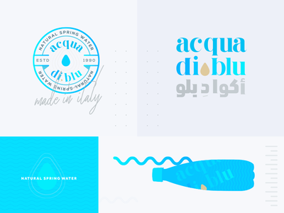 acqua di blu brand exploration pt.2 italy water blue brand natural spring water arabic logo logo branding water brand natural water brand brand exploration