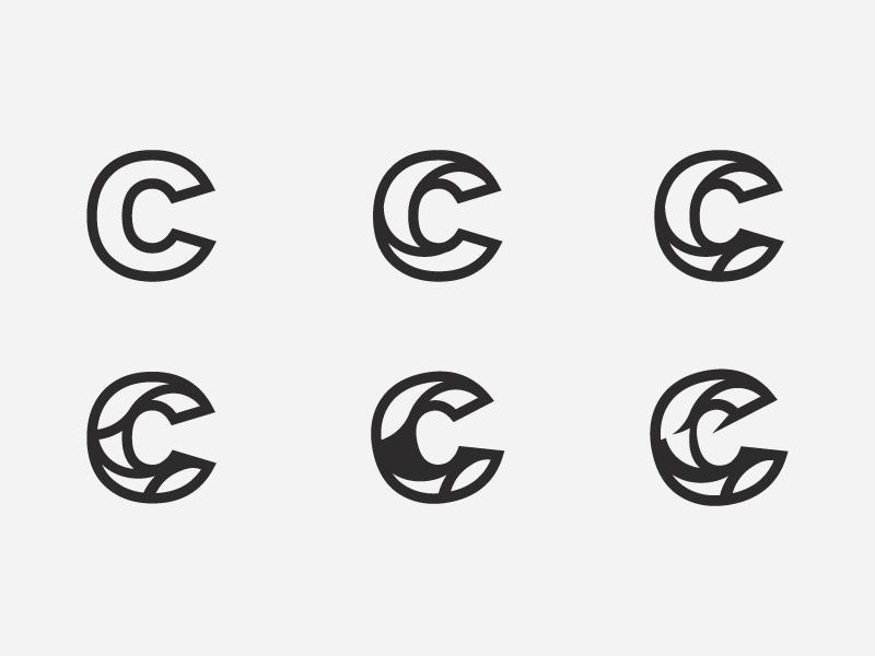 C Lettermark Exploration c app developing c monogram logo c mark brand identity c letter typography c type monogram logotype lettermark lettering branding logo