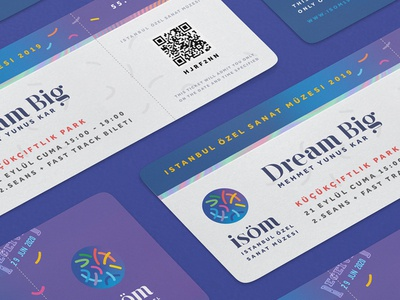 ISÖM Events Ticket Design Style art ticket museum tickets identity branding simple ticket design istanbul ticket ticketing event ticket ticket design ticket