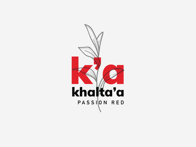 Khalta'a Brand - Passion Red Collection branch leaves identity arabic logo k letter k logo red perfume red collection red logo branding packaging design perfumery brand perfumes