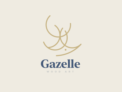 Gazelle Wood Art Logo