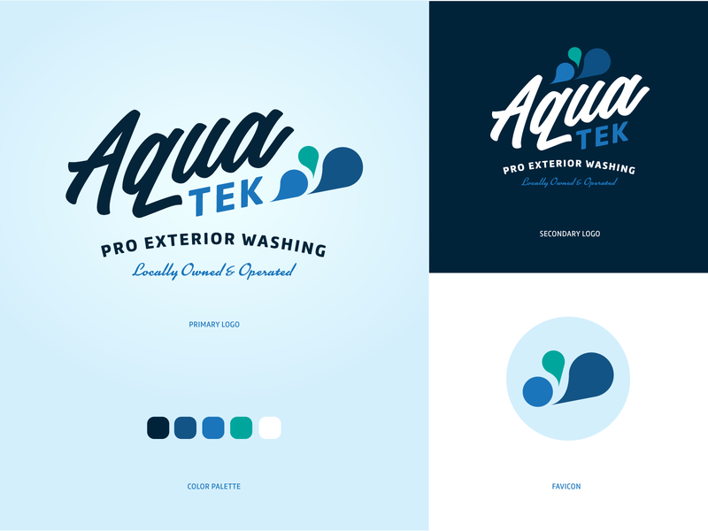 AquaTek Pro Exterior Washing Logo vector logo design logo lake charles illustrator design branding louisiana