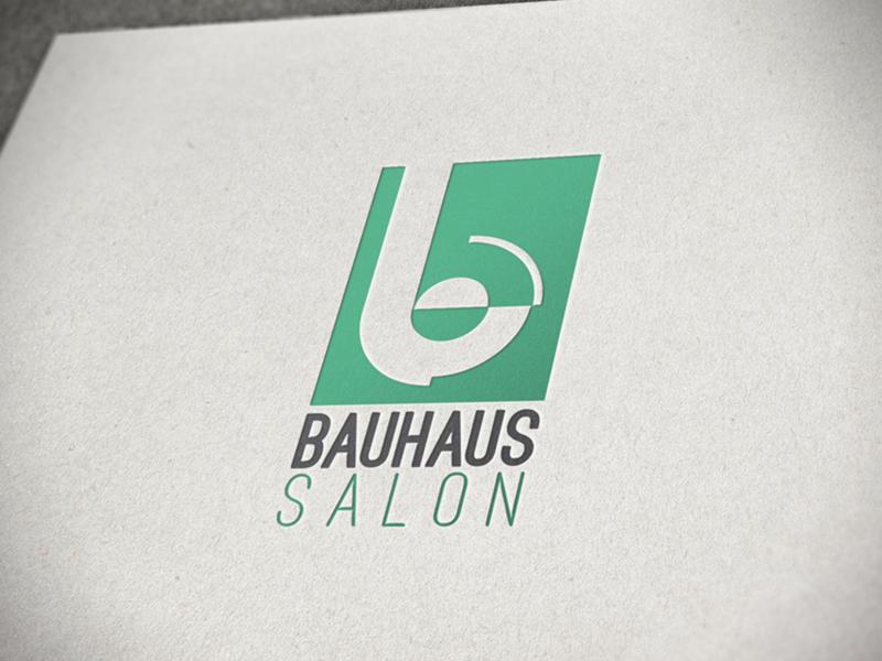 Bauhaus Salon Logo louisiana lake charles salon bauhaus logo design branding logo
