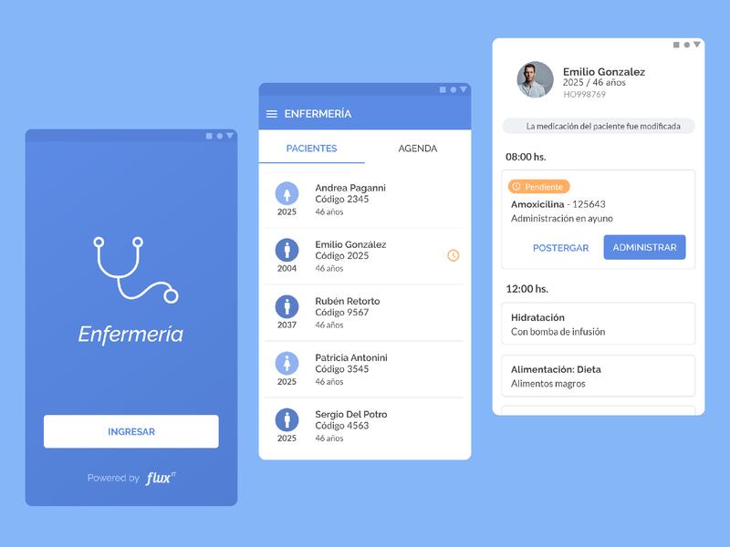 Nursing App nurse healt service design ui ux design app