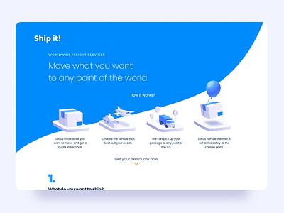 Ship it! freight illustration form web app design ui ux