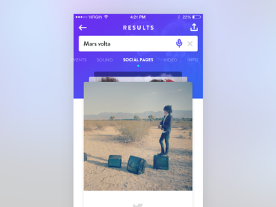 Search Results cards search app ios ux ui