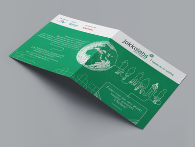 Jokkolabs - Square Bi-Fold Leaflet graphicdesign illustration advertising branding adobe leaflet print design print