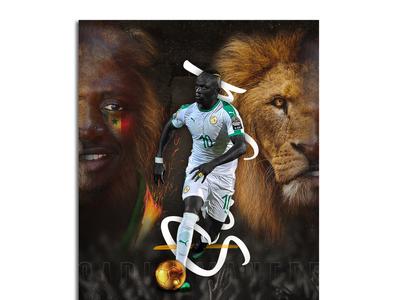 Poster - Mane Maay Sadio soccer design photomanipulation photoshop poster design