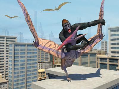 Dinosaur Hunt 3D - Dinosaur vs King-Kong Games - Mobile Games