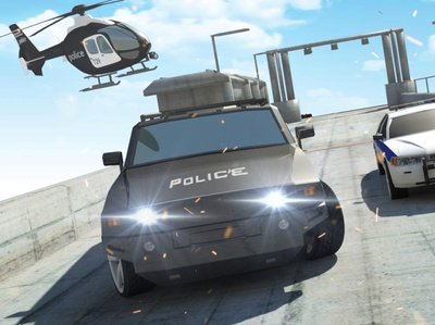 Police Car Driving Sim : Extreme Car Stunts - New Games
