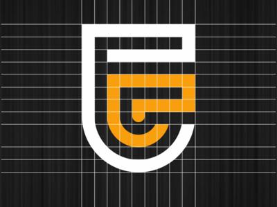 PE logo contruction lettering illustration identity flat illustrator graphic design vector branding logo icon design