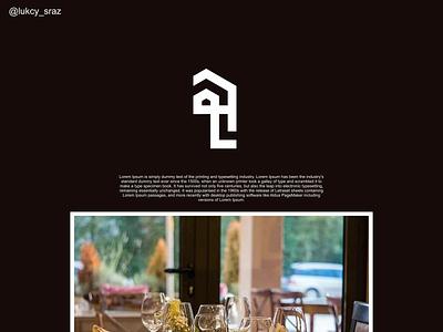 LH monogram logo illustration identity flat illustrator graphic design vector branding logo icon design