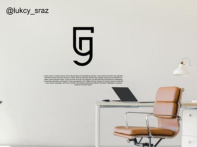 GJ monogram logo identity flat illustrator typography graphic design vector branding logo icon design