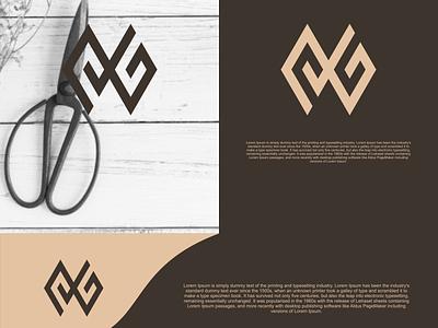 GG monogram logo illustration identity flat illustrator graphic design vector branding logo icon design