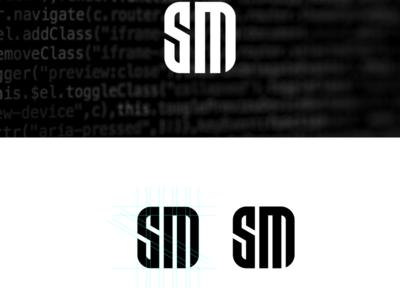 letter sm logo design