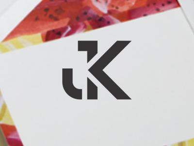 JK letter logo design