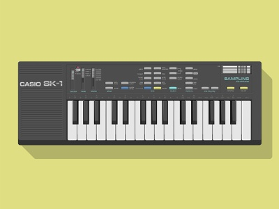Casio SK-1 vector illustration