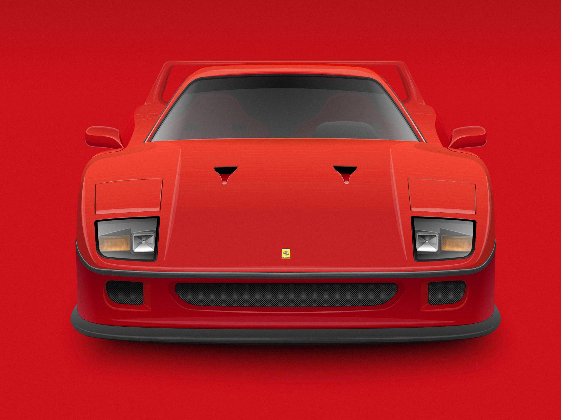 Ferrari f40 front clean