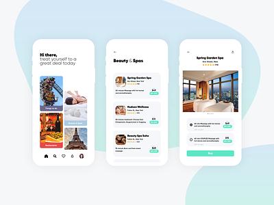 Redeem user interface design user interface ui ux ui designers ui designer mobile app design mobile app groupon coupons deals ui design ux ui