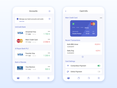 Cards Holder App
