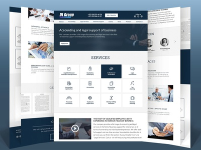 Business Website for Accounting Agency