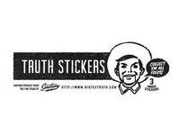 Big Tex Was an Inside Job stickers - packaging
