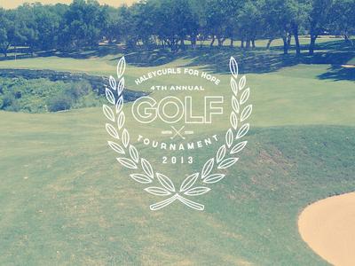 HFH Golf Tournament logo concept