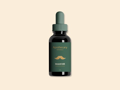 Apothecary Naturals Beard Oil packaging mockup packaging design tincture beard oil cosmetic cannabis branding cannabis design cbd packaging cannabis packaging typography packaging wellness cbd cannabis vector illustration logo brand identity design