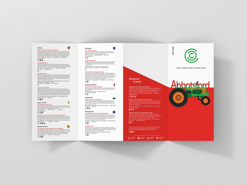 Circle Farm Tour Brochure iconography icon artwork icon print design print brochure design brochure vector art vector illustration communication design communication layout design layoutdesign layouts layout