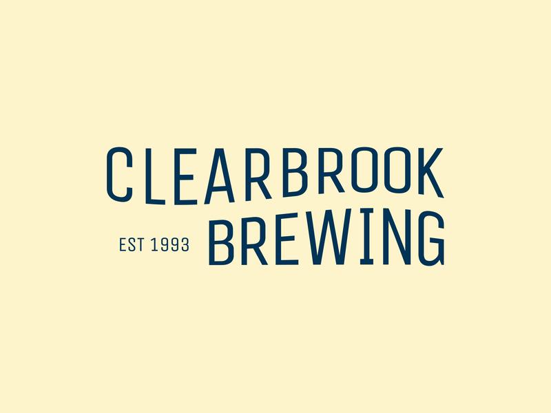 Clearbrook Brewing typography design logo a day wordmark logo brewery beer typography icon design brand identity branding craft brewery craft beer wordmark logo