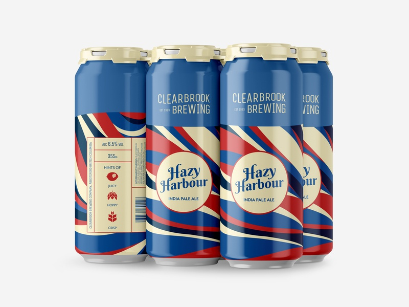 Hazy Harbour Craft Beer package design brand identity branding wordmark packaging mockup packaging design packagingdesign packaging logo craft brewery brewery craft beer