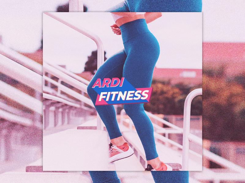 Ardi Fitness trainer training gym fitness wordmark layout design layoutdesign branding brand identity icon adobe illustrator vector art vector design logo a day logo