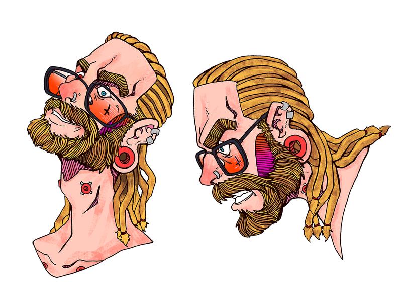Chancho Face study illustration graphic novel comics cyberpunk comic book