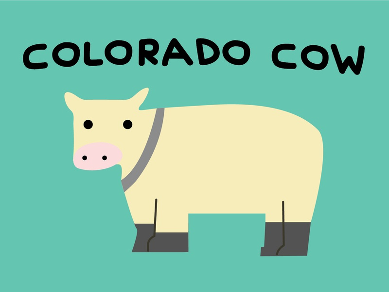 DINOFEED Colorado Cow Postcard