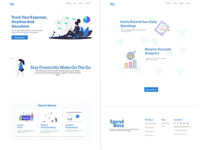 Landing Page For SpendBeta design learning beginner ui practice